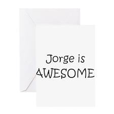 Cute Jorge name Greeting Card