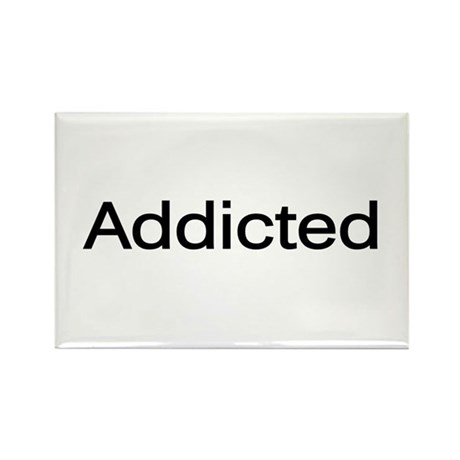 """""""Addicted"""" Rectangle Magnet (100 pack)"""