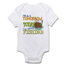 Today I'm Going Fishing Infant Bodysuit