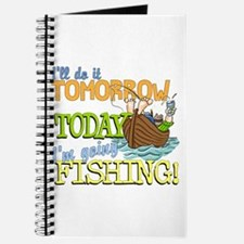 Today I'm Going Fishing Journal