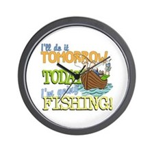 Today I'm Going Fishing Wall Clock