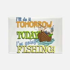 Today I'm Going Fishing Rectangle Magnet