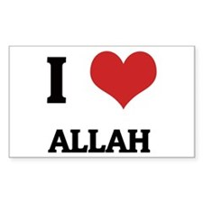I Love Allah Rectangle Decal