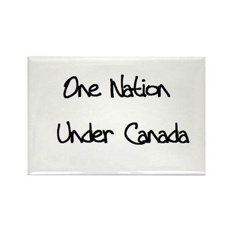One Nation Under Canada Rectangle Magnet (100 pack