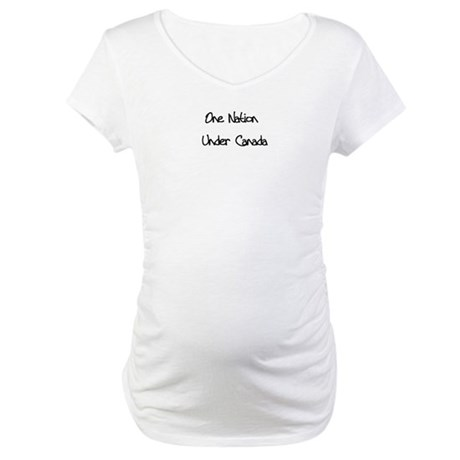 One Nation Under Canada Maternity T-Shirt