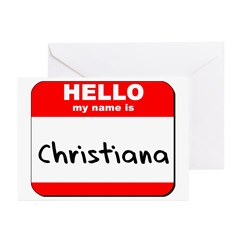 Hello my name is Christiana Greeting Cards (Pk of