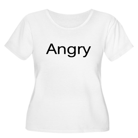 """""""Angry"""" Women's Plus Size Scoop Neck T-Shirt"""