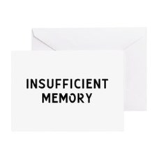 Insufficient Memory Greeting Card