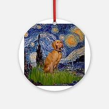 Starry Night Vizsla Keepsake (Round)