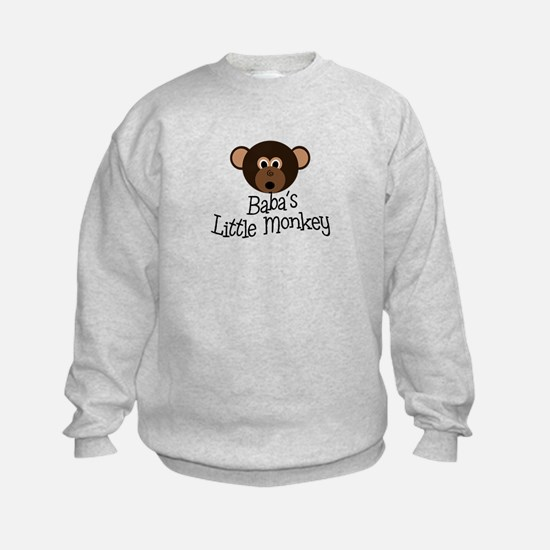 Baba's Little Monkey Boy Sweatshirt