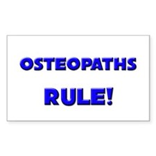 Osteopaths Rule! Rectangle Decal
