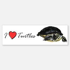 I Love Turtles Bumper Bumper Bumper Sticker