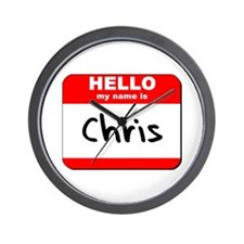 Hello my name is Chris Wall Clock