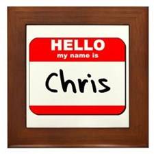 Hello my name is Chris Framed Tile