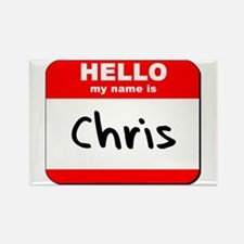 Hello my name is Chris Rectangle Magnet