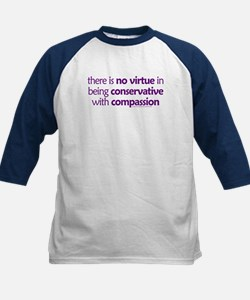 Conservative with compassion. Kids Baseball Jersey