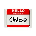 Hello my name is Chloe Rectangle Magnet