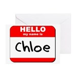 Hello my name is Chloe Greeting Cards (Pk of 10)