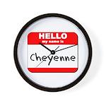 Hello my name is Cheyenne Wall Clock