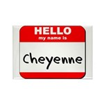 Hello my name is Cheyenne Rectangle Magnet (10 pac