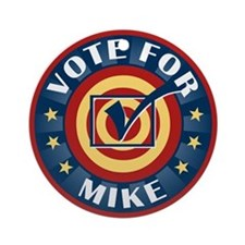 Vote for Mike Personalized Ornament (Round)