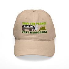Vote Democrat Save the Earth Baseball Cap