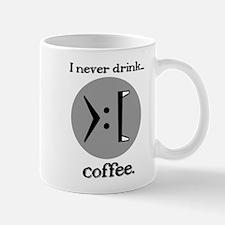 I never drink... coffee - Vampire Smiley mug