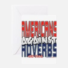 Americans Against Adverbs [SW Greeting Card