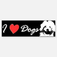 I Love Dogs Maltese Bumper Bumper Bumper Sticker