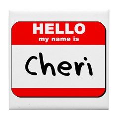 Hello my name is Cheri Tile Coaster