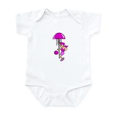Purple Hoops Infant Bodysuit