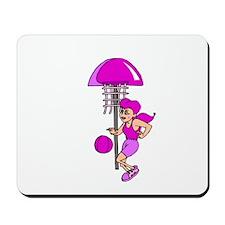 Purple Hoops Mousepad