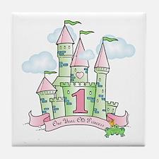 Castle Birthday Princess 1st Tile Coaster