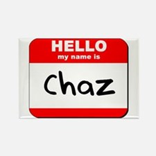Hello my name is Chaz Rectangle Magnet