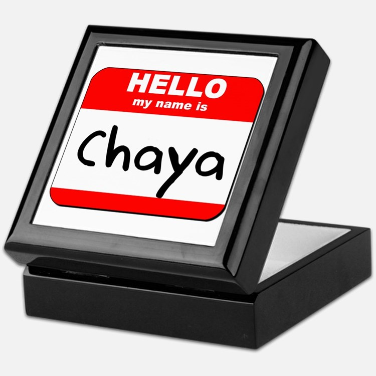 Hello my name is Chaya Keepsake Box