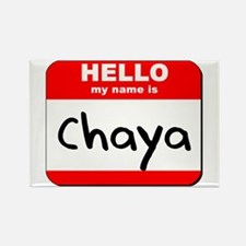 Hello my name is Chaya Rectangle Magnet
