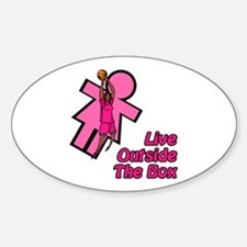 Live Outside the Box Oval Decal