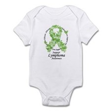 Lymphoma Butterfly Ribbon Infant Bodysuit