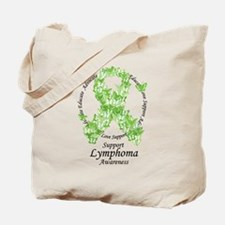 Lymphoma Butterfly Ribbon Tote Bag