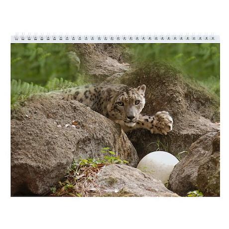 Snow Leopard B002 Wall Calendar
