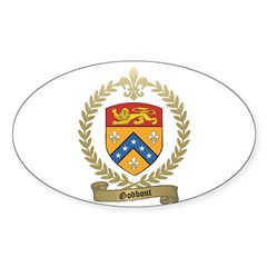 GODBOUT Family Crest Oval Decal