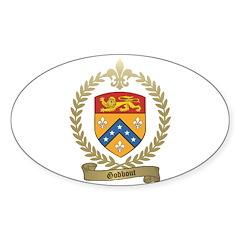 GODBOUT Family Crest Oval Sticker (50 pk)