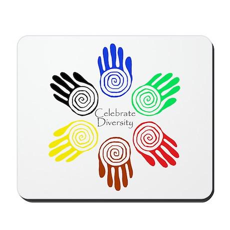 Celebrate Diversity Circle Mousepad