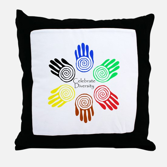 Celebrate Diversity Circle Throw Pillow