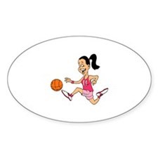 Dribbling Oval Decal