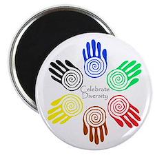 Celebrate Diversity Circle Magnet