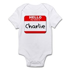 Hello my name is Charlie Infant Bodysuit