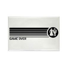Game Over Wedding Rectangle Magnet