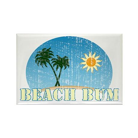 Beach Bum Rectangle Magnet (100 pack)