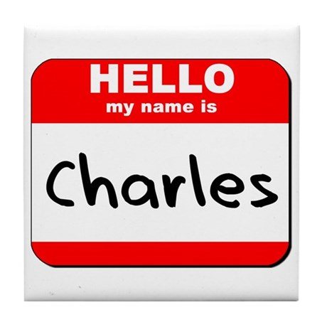 Hello my name is Charles Tile Coaster